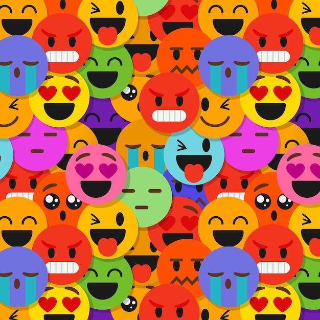 Modello di emoticon sorriso creativo Vettore gratuito