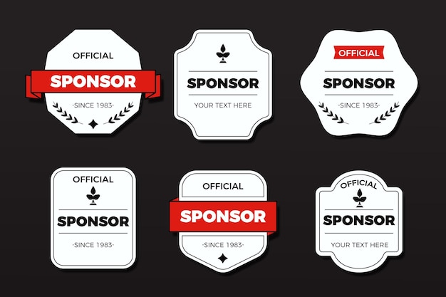 Creative sponsoring badges collection Premium Vector