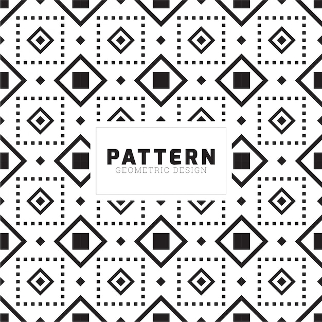 Creative square seamless pattern design Premium Vector