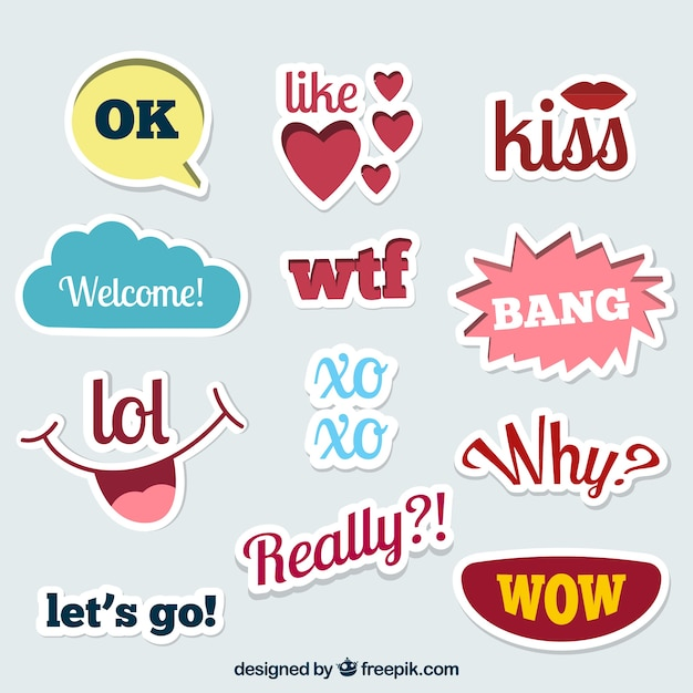 Creative stickers collection