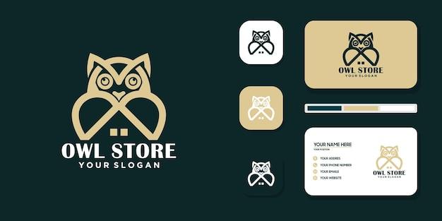 Creative store owl logo