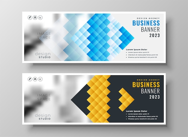Creative style business facebook cover template design Free Vector