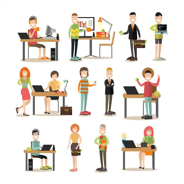 Творческая команда людей, набор квартиры Premium векторы