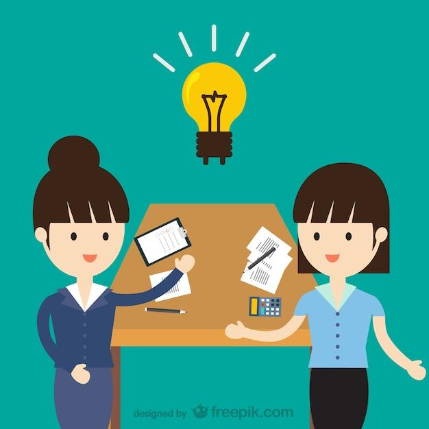 Creative team Free Vector