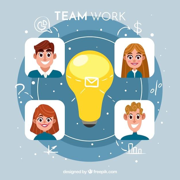Creative teamwork background