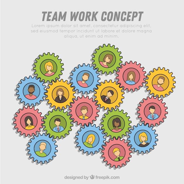 Creative teamwork concept