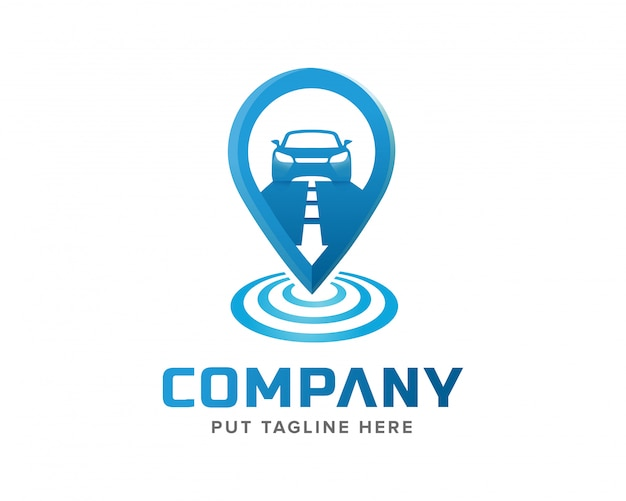 Creative template signal tracking and car logo design Premium Vector
