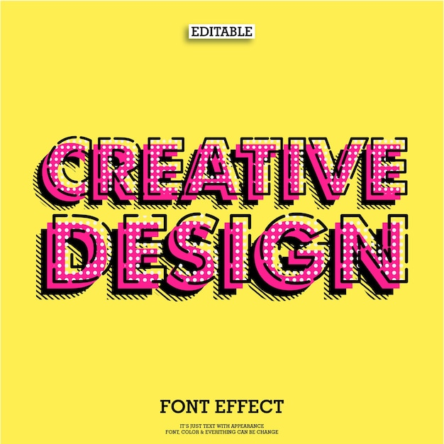 Creative text poster tittle design Premium Vector