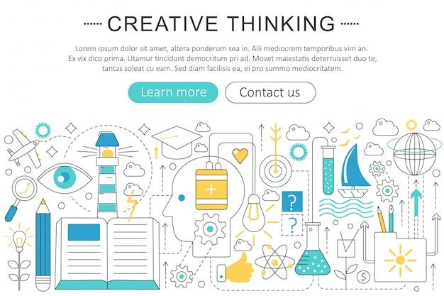Creative thinking concept Premium Vector