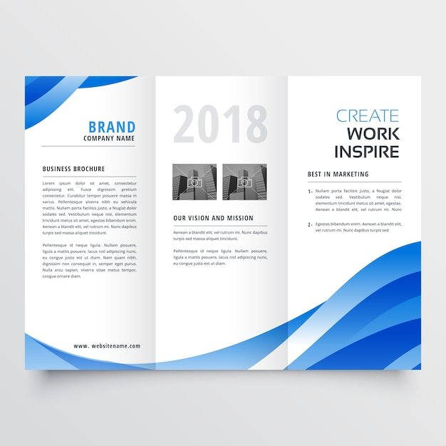 Creative trifold brochure template vector free download for Creative brochure templates free