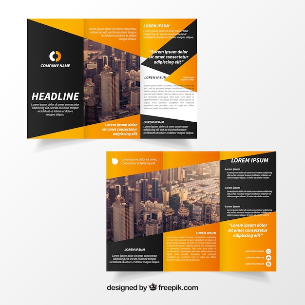 Creative trifold brochure template vector free download for College brochure templates free download