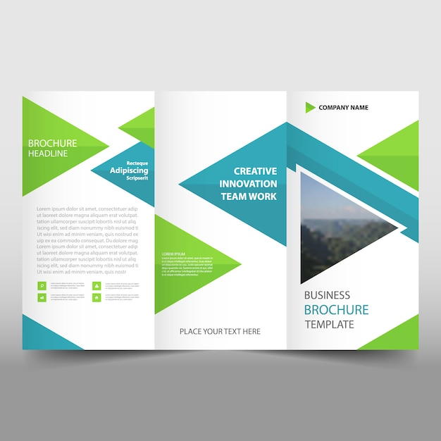 creative trifold leaflet template vector free download