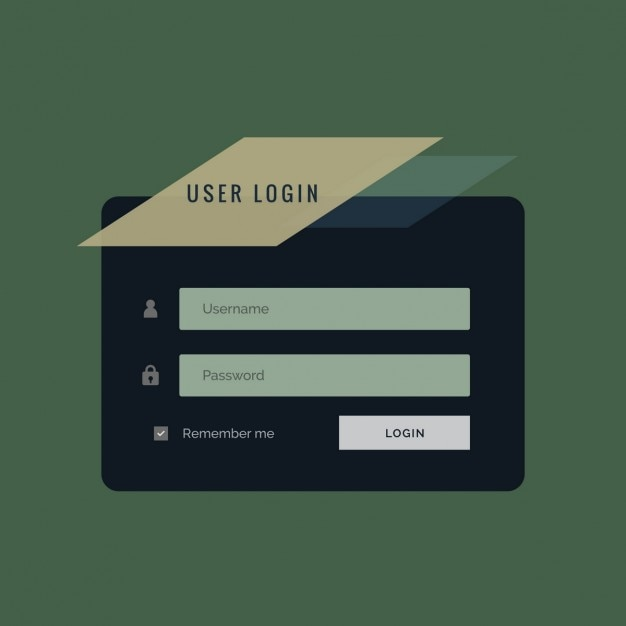 Creative user login forgeometric login template Vector | Free Download