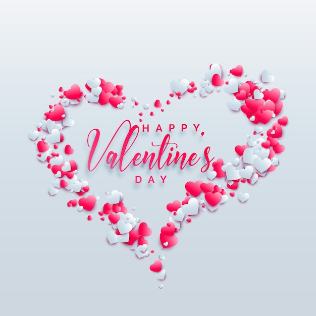 creative valentines day hearts background design premium vector