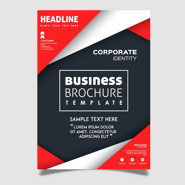 Creative Vector Brochure Designs Free Vector