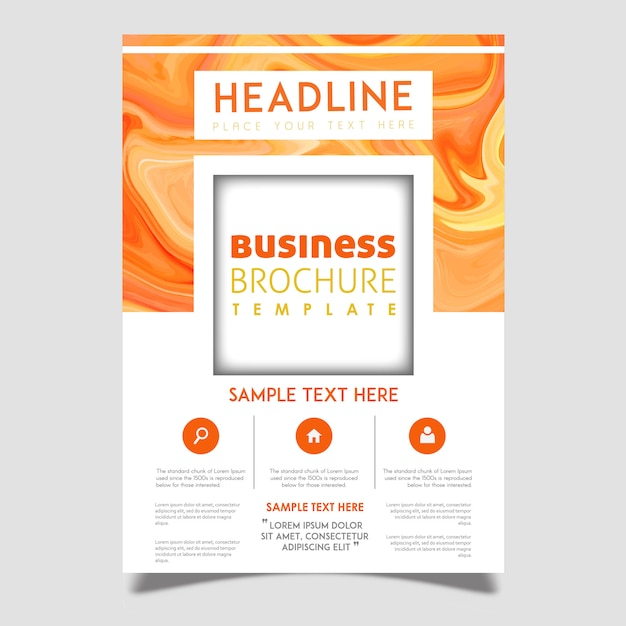 Creative vector brochure template design Free Vector