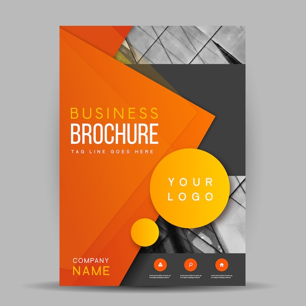 Creative Vector Brochure Template Design Free Vector