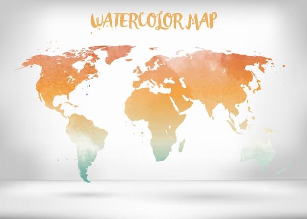 Creative vector map of the world. Premium Vector