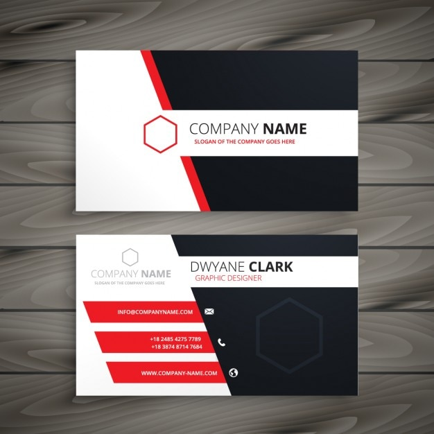 Creative visit card template vector free download creative visit card template free vector flashek Choice Image