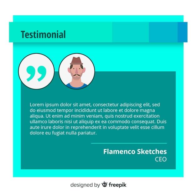 Creative web testimonial design Free Vector