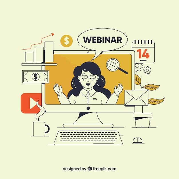 Творческий веб-семинар Бесплатные векторы