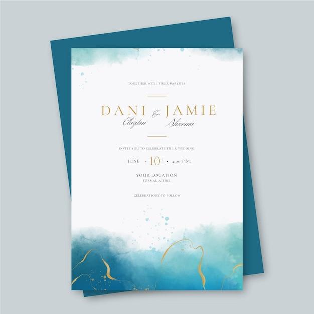 Creative wedding invitation template Premium Vector