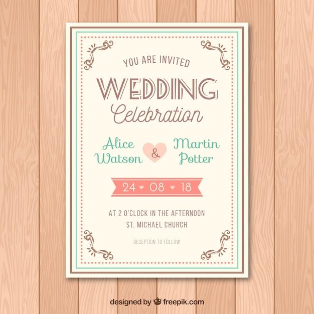 Creative wedding invitation vector free download creative wedding invitation free vector stopboris Images