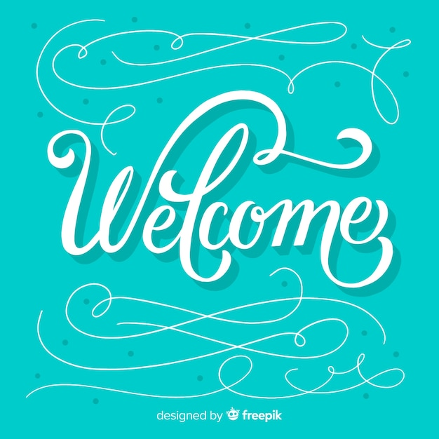 Creative welcome lettering concept Free Vector