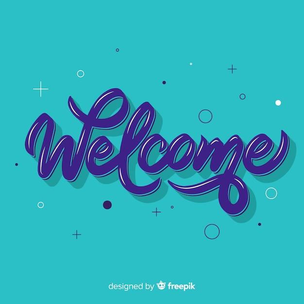 Concetto di lettering di benvenuto creativo Vettore gratuito