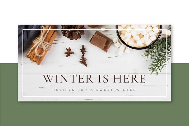 Intestazione del blog invernale creativa Vettore gratuito