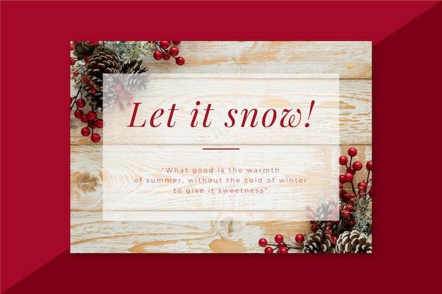 Carta invernale creativa con decorazioni Vettore gratuito