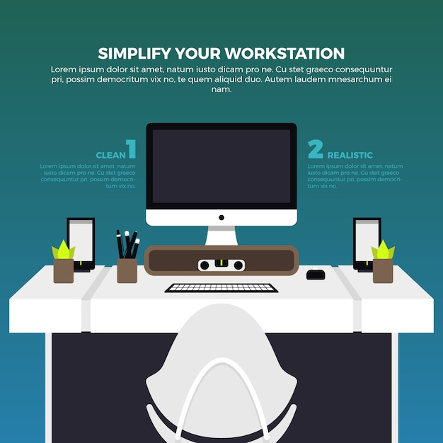 Workstation Vectors, Photos And PSD Files