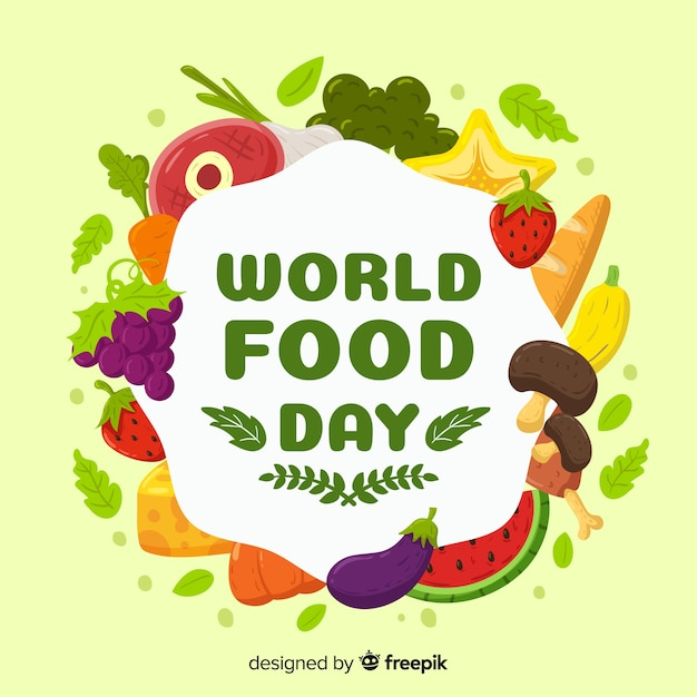 Creative world food day background Vector | Free Download