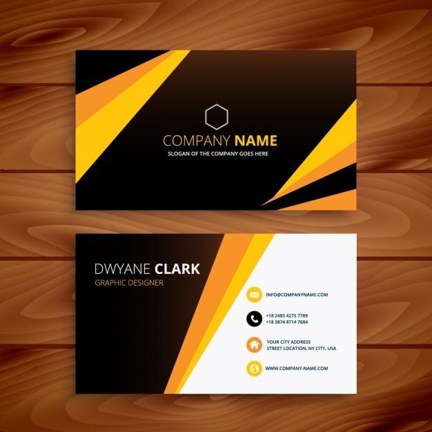 Creative yellow and black business card vector free download creative yellow and black business card free vector colourmoves