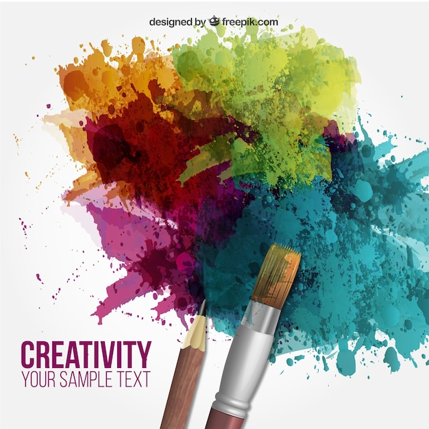 Creativity background vector free download for Creative paintings pictures