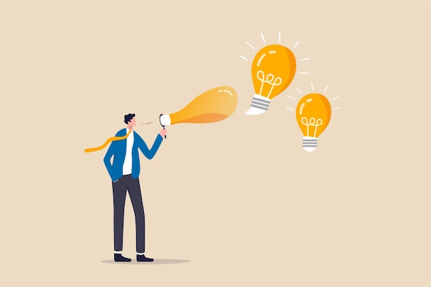 Creativity to create new business idea or solution for work problem Premium Vector