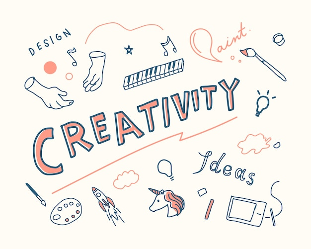 Creativity and innovation concept illustration Free Vector
