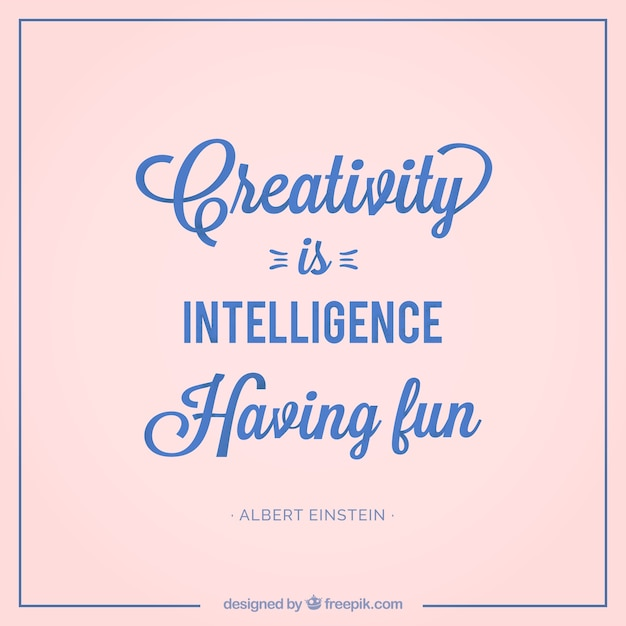 creativity quote in vintage style