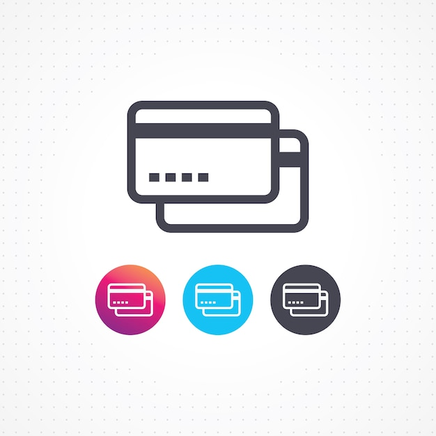 Credit Card Banking Symbol For Website And Mobile Apps Vector