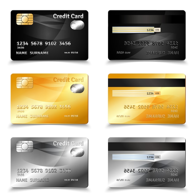 Credit card design Free Vector