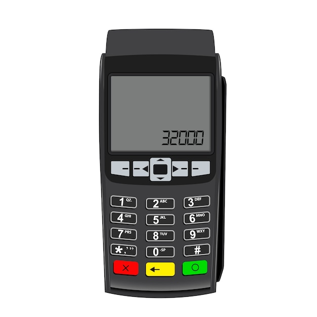 Credit card machine Premium Vector