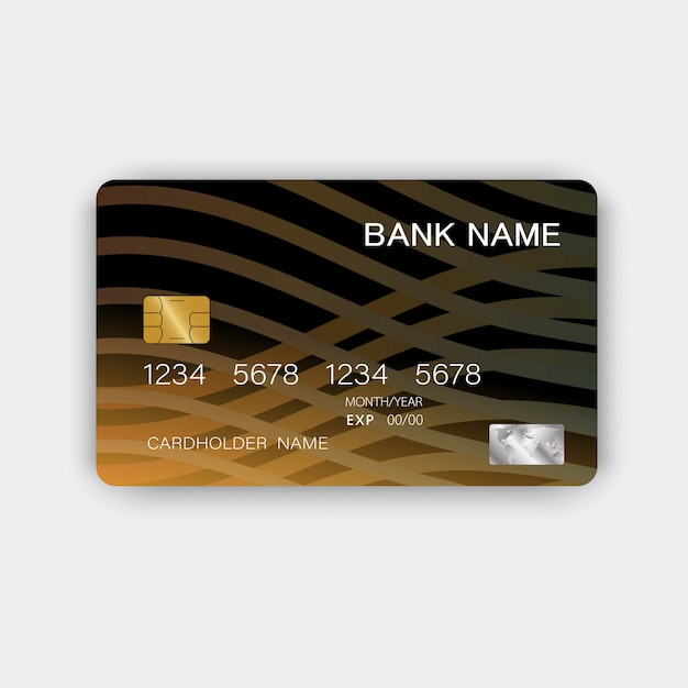 Credit Card Template Abstract. Colorful Glossy Plastic