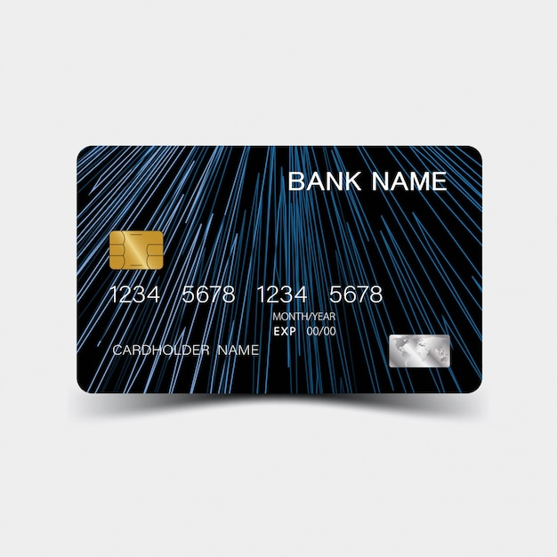 Credit Card Template Blue