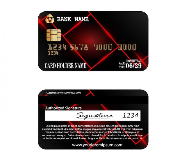 Credit card template Premium Vector