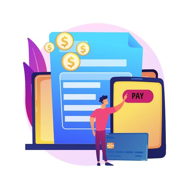 クレジットカード取引。支払い条件、購入条件、オンラインバンキング。電子決済技術を使用するバイヤー。実業家の返済金ローン 無料ベクター