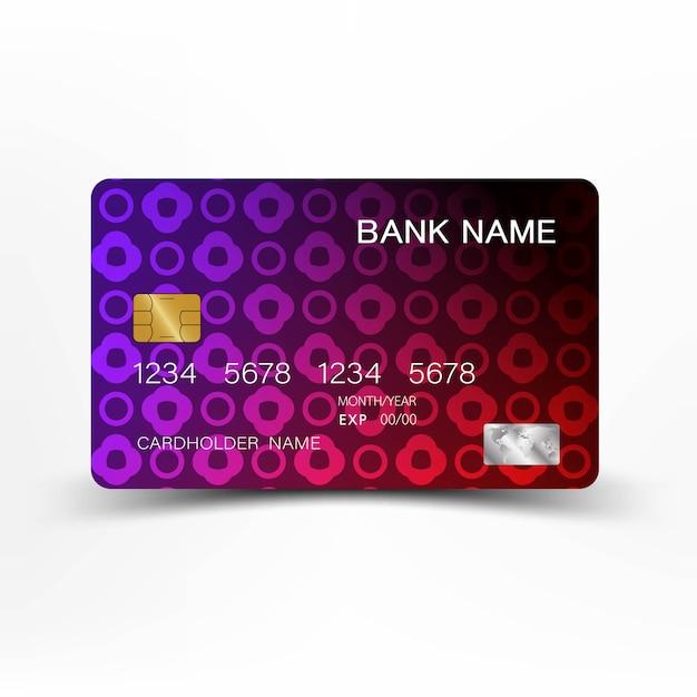 Credit cards design. Premium Vector