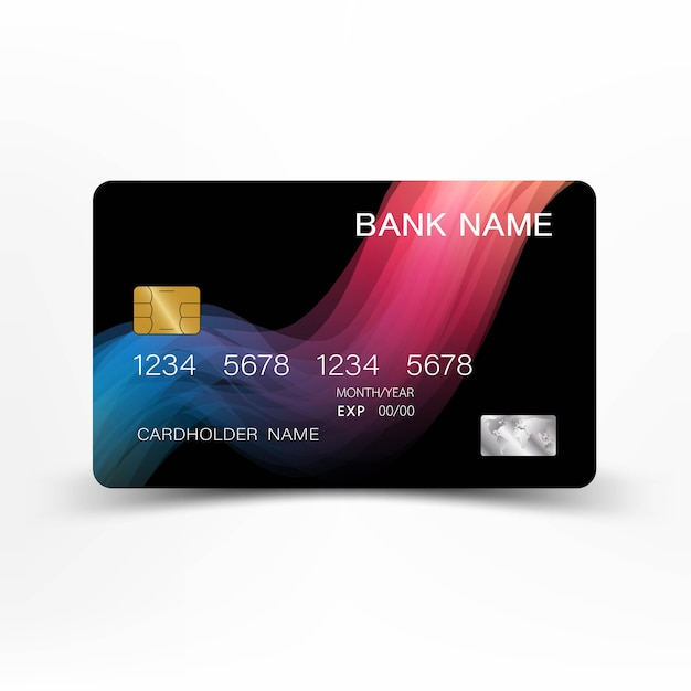 Credit Cards. With Inspiration From The Abstract Mix Pink