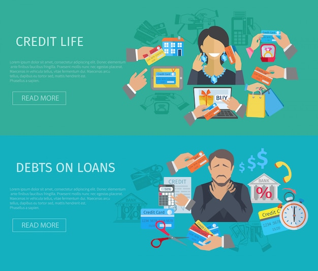 Credit life banner Free Vector