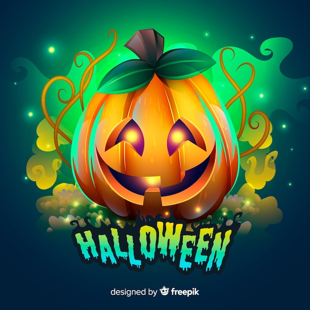 Creepy Halloween Background With Realistic Design Vector Free Download