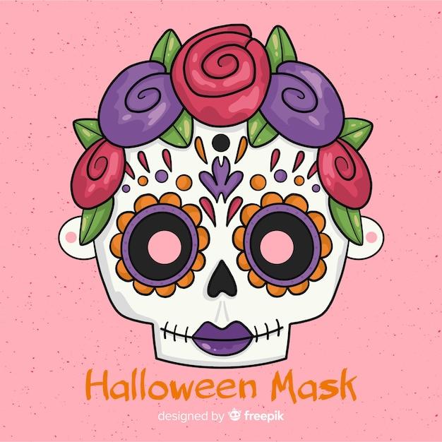 Creepy Hand Drawn Halloween Mask Free Vector